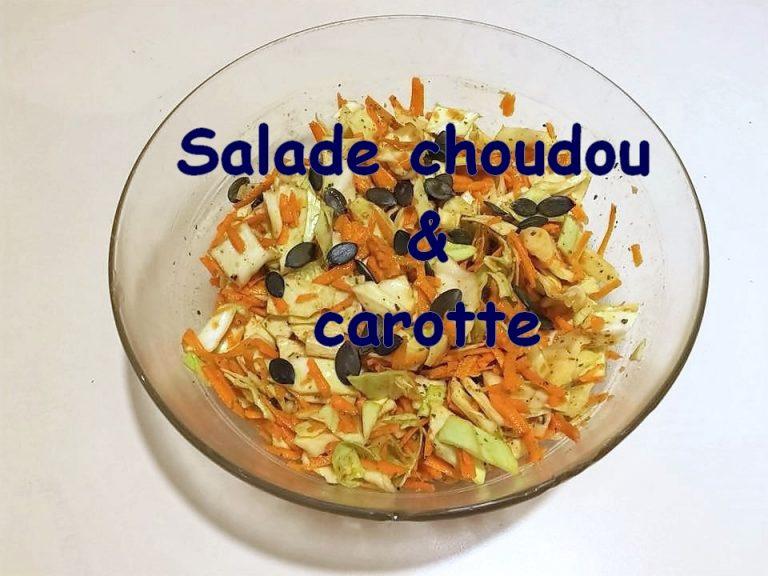 Capsule salée – Salade chouchou et carotte